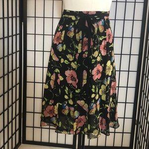 John Paul Richard Flowing floral print silk skirt